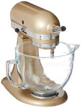 KitchenAid 5-Quart Stand Mixer Glass Bowl Champagne Gold