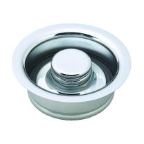 Westbrass InSinkErator Style Disposal Flange & Stopper, Polished Chrome, D2089-26