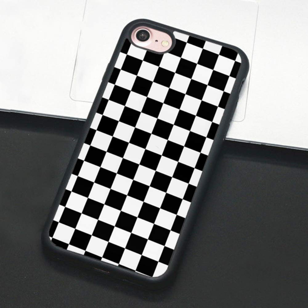 Checkerboard Phone Case for iPhone 11 Pro Max XS Max XR X 8 Plus 7 Plus 8 7 6 6s 5s 5 se Hard Cover Grid Lattice Plaid Tartan Damier House Checkerboard Chessboard Checker Flag (iPhone 11, 1)