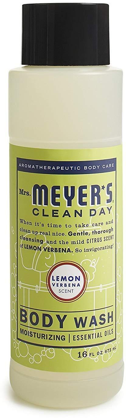 Mrs. Meyer's Clean Day Moisturizing Body Wash, Cruelty Free and Biodegradable Formula, Lemon Verbena Scent, 16 oz
