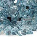American Fireglass 10-Pound Reflective Fire Glass with Fireplace Glass and Fire Pit Glass, 1/2-Inch, Azuria Blue
