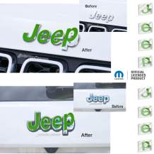 Reflective Concepts - JEEP Front and Rear Emblem Overlay Decal Stickers - 2014-2021 Jeep GRAND Cherokee - (Color: Lime Green)