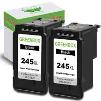 GREENBOX Remanufactured 245XL Black Ink Cartridge Replacement for Canon PG-245 PG-245XL PG 245 245XL 245 XL Used in Canon PIXMA MX492 MX490 MG2920 MG2420 MG2520 MG2522 IP2820 (2 Black)
