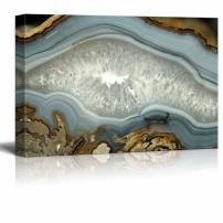 "wall26 - Abstract Agate Slice Pattern Gallery - Canvas Art Wall Art - 32""x48"""
