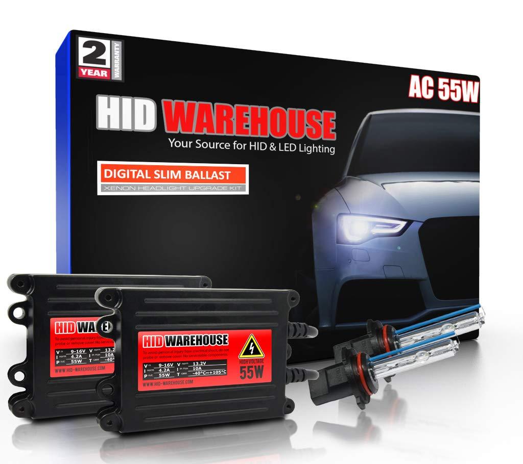 HID-Warehouse 55W AC Xenon Bundle with Slim AC Ballast (1 Pair) - 9005 30000K - 30K Deep Blue Xenon Bulbs (1 Pair)