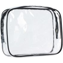 ScivoKaval Clear Carry-On Travel Toiletry Bag TSA 3 1 1 Airline Quart Bag 1 Quart Sized with Zipper for Men and Women 1 Pack