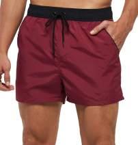 "yuyangdpb Mens Swim Trunks 5"" Beach Shorts with Pockets"