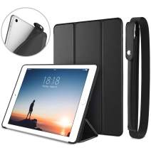 DTTO New iPad 9.7 Inch 2018/2017 Case with Apple Pencil Holder, Ultra Slim Smart Case with Trifold Stand and Soft TPU Back Cover for Apple iPad 5th / 6th Generation [Auto Sleep/Wake] - Black