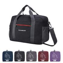 Travel Duffel Bag, 25L Airlines Foldable Travel Bag Carry on Duffle Tote Bag Sport Duffel Lightweight Weekender Overnight Bag for Men Women Water-proof (Black)