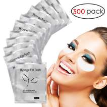Adecco LLC 300 Pairs Set,Under Eye Pads,Lint Free Lash Extension Eye Gel Patches for Eyelash Extension Eye Mask Beauty Tool