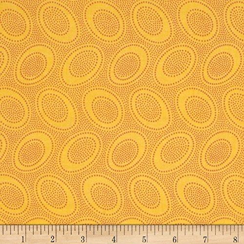 FreeSpirit Fabrics 0365104 Kaffe Fasset Collective Aboriginal Dot Gold Fabric by the Yard