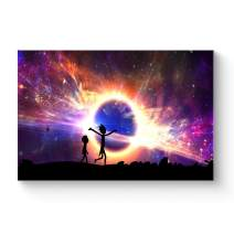 "HAOSHUNDA HSD Wall Art Rick and Morty Posters On Canvas Oil Painting Posters and Prints Decorations Wall Art Picture Living Room Wall Ready to Hang 12"" x 18"" 16"" x 24"" (12""x18""x1, Artwork-11)"