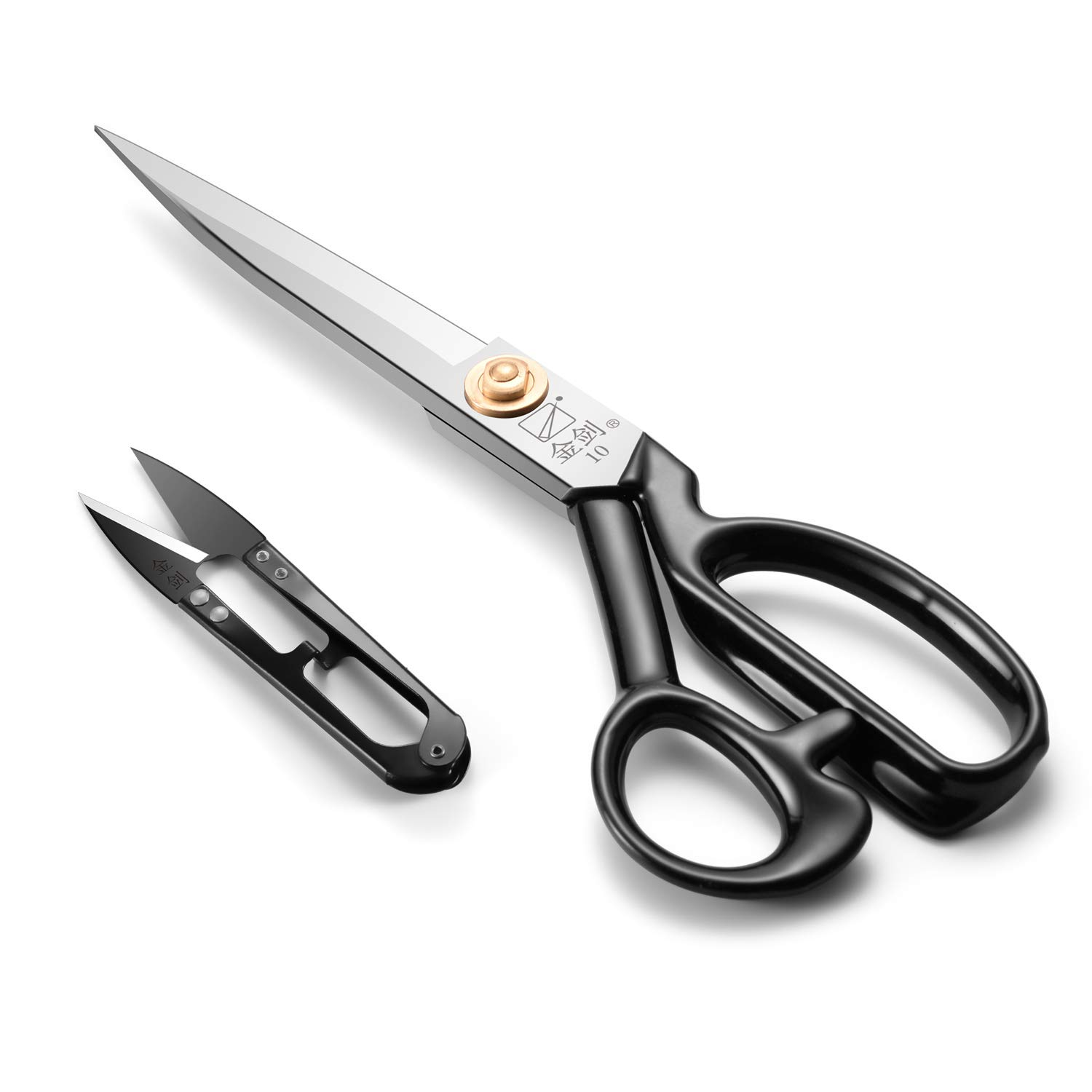 Sewing Scissors 10 Inch - Fabric Dressmaking Scissors Upholstery Office Shears for Tailors Dressmakers, Best for Cutting Fabric Leather Paper Raw Materials Heavy Duty High Carbon Steel(Right-Handed)