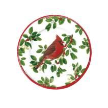 Caspari Winter Songbirds Paper Salad & Dessert Plates - Pack of 8