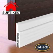 """3 Pack Door Draft Stopper (39"""" x 2""""), Strong Self-Adhesive Under Door Seal Fits for for Exterior and Interior Doors - Door Draft Blocker, Draft Guard for Door Soundproofing (White)"""