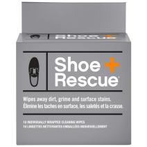 ShoeRescue All Natural Shoe Cleaner Wipes for Leather & Suede Shoes & Boots –