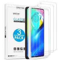 OMOTON [3 Pack] Screen Protector for Moto G Power - Tempered Glass/Alignment Frame/Anti Scratch Screen Protector for Motorola Moto G Power 6.4 inch
