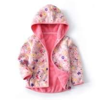 Feidoog Toddler Polar Fleece Jacket HoodedBaby Boys Girls Autumn Winter Long Sleeve Thick Warm Outerwear