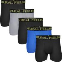 Natural Feelings Mens Underwear Coolzone Boxer Briefs for Men Pack Stretch Performance Quick Dry Sports Underwear