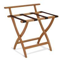 Wooden Mallet WallSaver Luggage Rack,Brown Straps, Light Oak