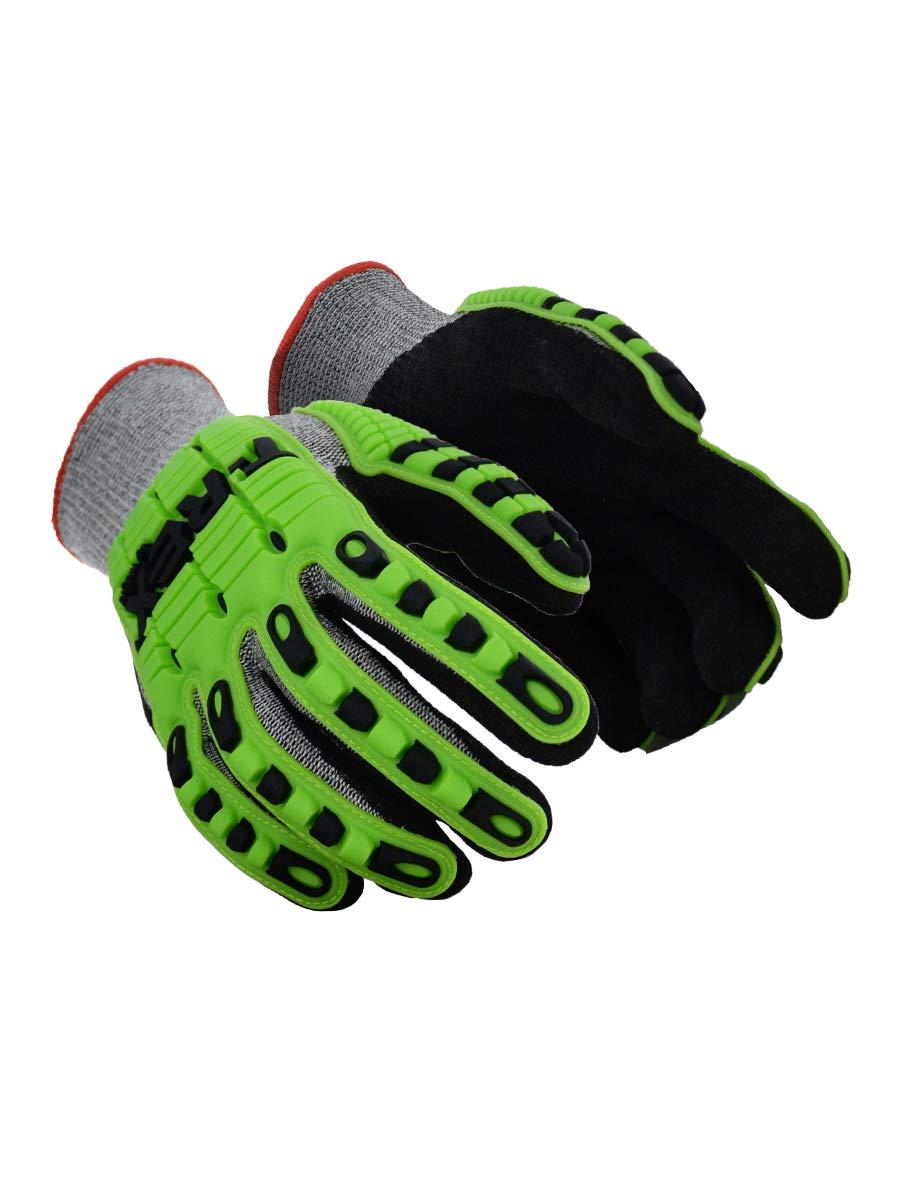 Magid Glove & Safety TRX450XXL T-REX TRX450 Lightweight Knit Impact Glove – Cut Level A6, Black, 2XL, HPPE