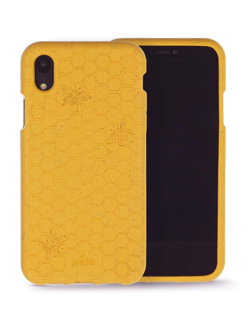 Pela: Phone Case for iPhone XR - 100% Compostable and Biodegradable - Eco-Friendly - Made from Plants (XR Honey Bee)
