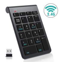 Wireless Numeric Keypad,VIVI SKY 2.4G 22-Key Mini USB Portable Number Keyboard Financial Accounting Digital Number Pad for Laptop Desktop PC Pro and More