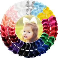 6 Inch Large Baby Hair Bows Barrettes Clip Holders Accessories For Toddler Girls 15 pcs