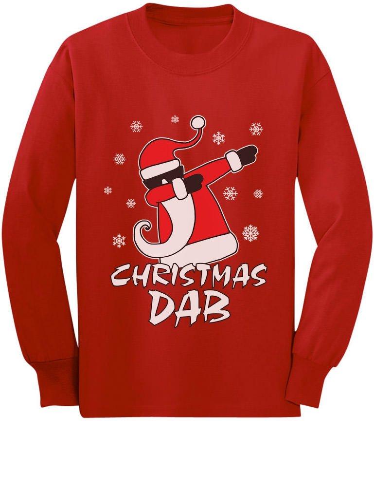 Dabbing Santa Christmas Dab Funny Xmas Youth Kids Long Sleeve T-Shirt