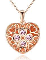 Esottia Locket Necklace Photo Heart Pendant Jewelry Birthday Wedding for Women Girlfriend Wife
