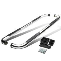 """3"""" Polished Side Step Nerf Bar Running Board Replacement for Yukon XL Suburban Avalanche 1500 Crew Cab 00-14"""