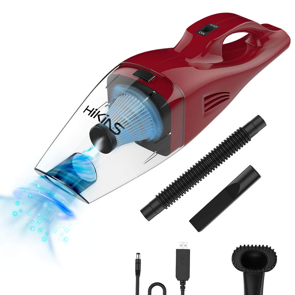 HiKiNS Car Vacuum Cleaner Handheld Vacuum Cordless with Quick Charger Tech Portable 100W Strong Suction Wet Dry Use Vac for Home,Car,Office Pet Hair Cleaning