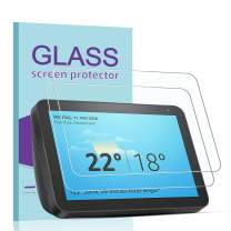 [2 Pack] Janmitta for Amazon Echo Show 8 Screen Protector, [Scratch Resistant][Anti-Fingerprint] Tempered Glass for Amazon Echo Show 8 (8 inch)
