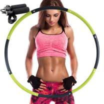 REDSEASONS Exercise Hoop for Adults,Lose Weight Fast by Fun Way to Workout,Easy to Spin, Premium Quality and Soft Padding Exercise Hoop,with Free Accessory Skipping Rope