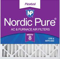 Nordic Pure 20x20x2 MERV 8 Pleated AC Furnace Air Filters 3 Pack, 3 PACK, 3 PACK