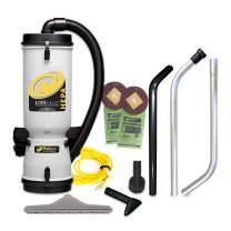 ProTeam Commercial Backpack Vacuum Cleaner, LineVacer HEPA Vacuum Backpack with High Filtration Tool Kit, 10 Quart, Corded