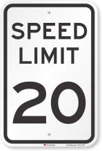 SmartSign Speed Limit 20 MPH Sign, 18x12 3M Engineer Grade Reflective Rust Free .63 Aluminum, Easy to Mount Weather Resistant Long Lasting Ink, Made in USA