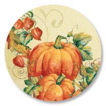 Full-Color Pumpkin Spice Seasonal Seals, 140 Count