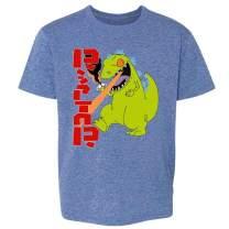 Pop Threads Cartoon Kaiju Funny Retro 90s Toddler Kids Girl Boy T-Shirt