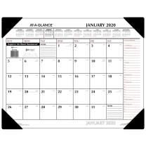 """AT-A-GLANCE 2020 Desk Calendar, Desk Pad, 21-3/4"""" x 17"""", Standard, Red/Black (SK117000)"""