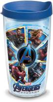 Tervis Marvel - Avengers 4 Endgame Insulated Travel Tumbler with Wrap & Lid, 16 oz - Tritan, Clear