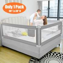 """SURPCOS Bed Rails for Toddlers - 60"""" 70"""" 80"""" Extra Long Baby Bed Rail Guard for Kids Twin, Double, Full Size Queen & King Mattress (Bucks, 1Side:60""""(L)×30""""(H))"""