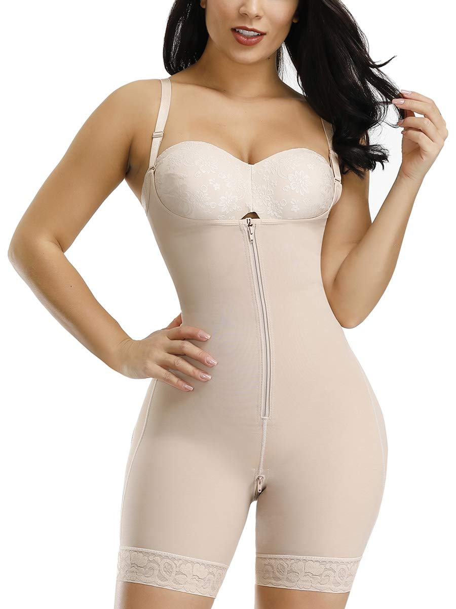 CINDYLOVER Women Seamless Shapewear Firm Control Open Bust Bodysuit Butt Lifter Body Shaper