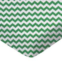 SheetWorld Fitted Crib / Toddler Sheet - Forest Green Chevron Zigzag - Made In USA
