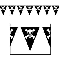 Beistle 50537 Jolly Roger Pennant Banner, 10-Inch by 12-Feet (Value 3-Pack)