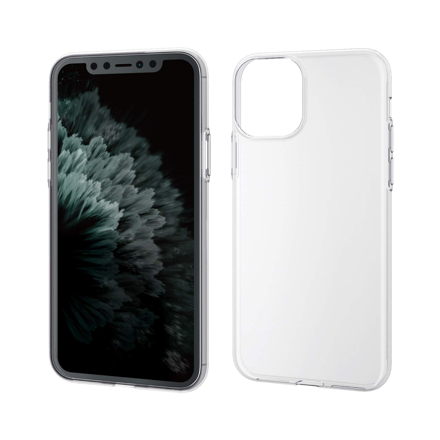 ELECOM ELECOM-Japan Brand-Smartphone Soft TPU Case Thin Type Compatible with iPhone 11 Pro Clear PM-A19BUCUCR