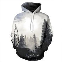 Hulaha Unisex 3D Digital Printing Funny Creative Hoodies Sweatshirts