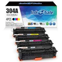 INK E-SALE Remanufactured Toner Cartridge Replacement for HP 304A CC530A Canon 118 Toner Cartridge for Use with HP Color Laserjet CP2025dn CP2025n CM2320fxi, Canon MF726Cdw MF8580CDW LBP7660Cdn 4 Pack
