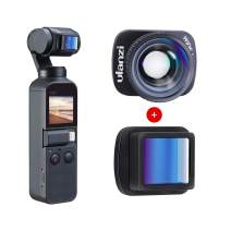 ULANZI OSMO Pocket 1.15X Anamorphic Lens + Upgraded Wide Angle Lens Kit, 4K HD Video Quality, Filmmaking Widescreen Movie Lens for DJI OSMO Pocket Cinematic Video Accessories