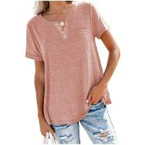 MAKARTHY Women's Long Puff Sleeve Boat Neck T-Shirts Tunic Top